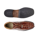 Barone Bandy/Antique Brown Hornback and Ostrich Belvedere Shoes