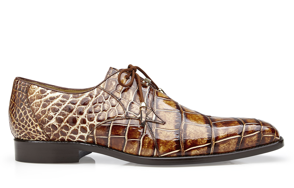 Alfred Camel Belvedere Alligator Shoes