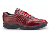 Astor Red Crocodile Belvedere Sneakers Shoes