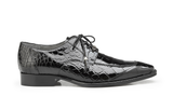 Lorenzo Black Alligator Belvedere Shoes