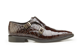 Oscar Chocolate Alligator Belvedere Shoes