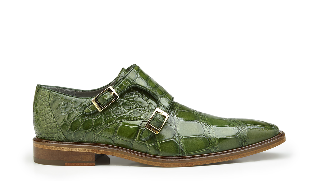Oscar Pistachio Alligator Belvedere Shoes