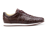 Parker Dark Burgundy Ostrich Belvedere Sneakers Shoes