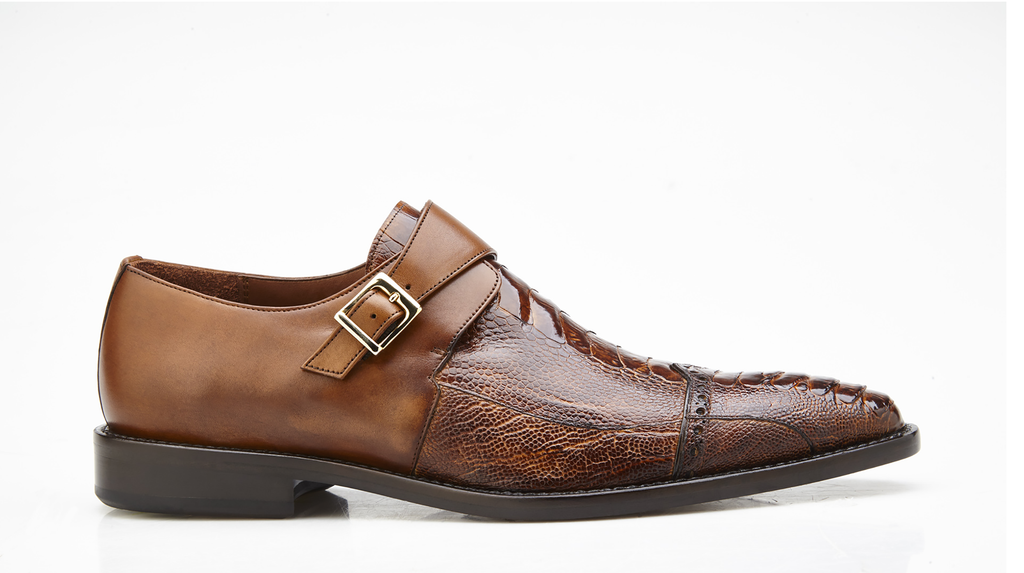 Salinas Almond Ostrich Belvedere Shoes