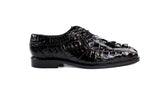 Colombo Black Crocodile Belvedere Shoes