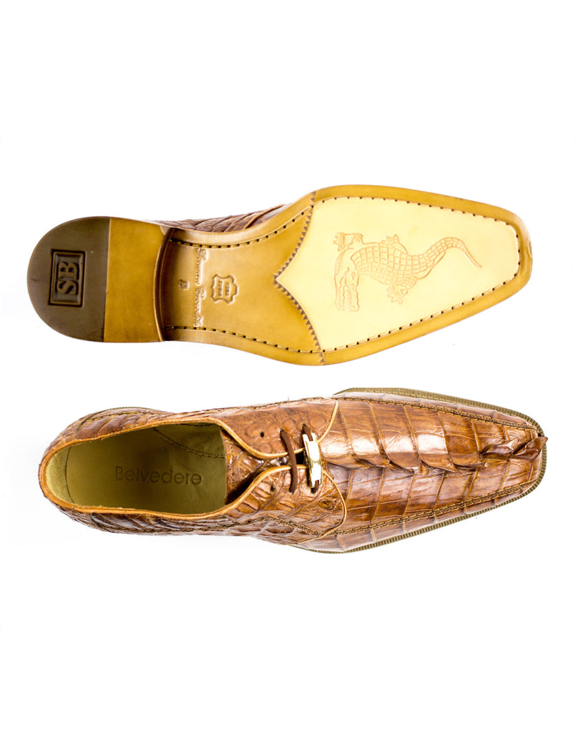Colombo Camel Crocodile Belvedere Shoes