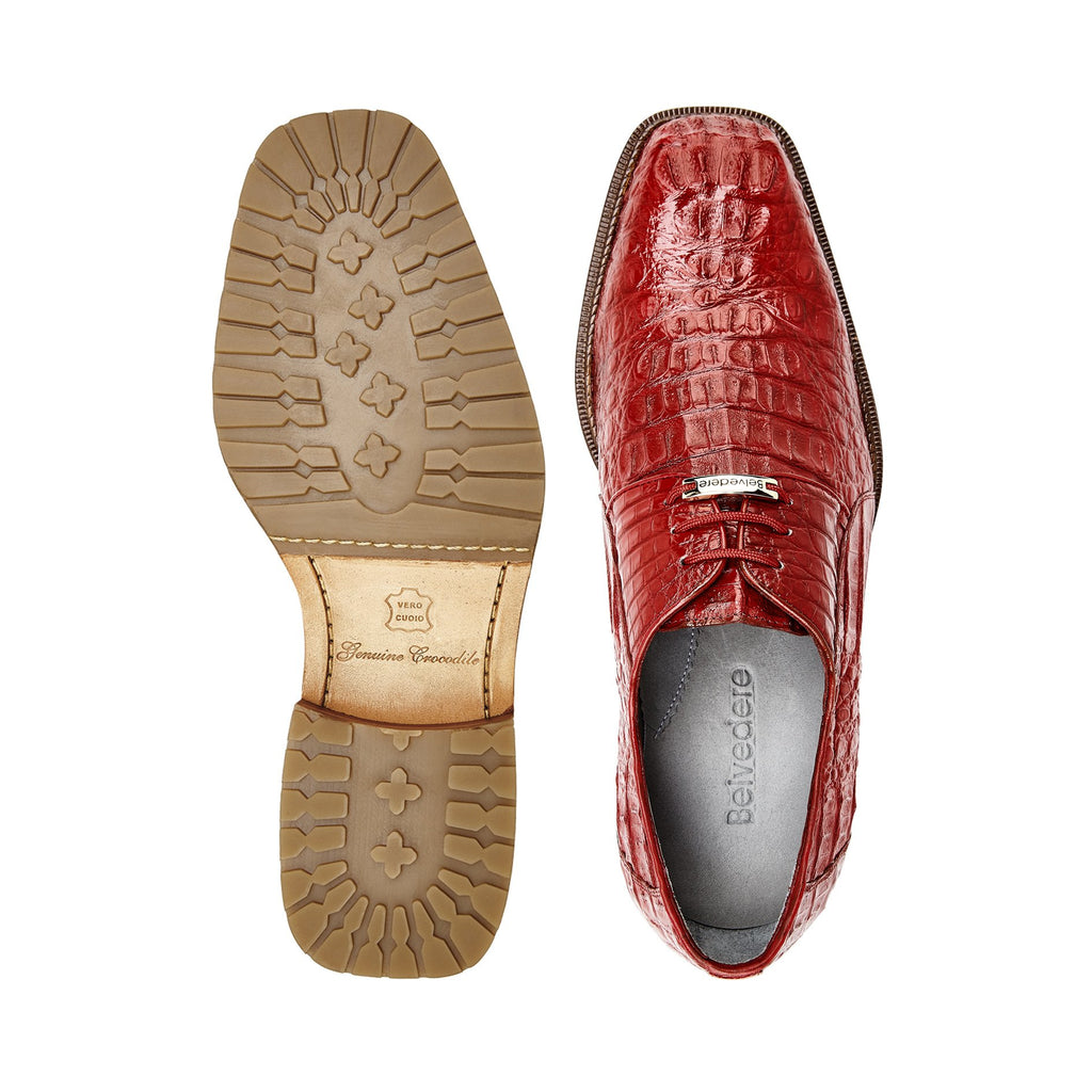 Coppola Flame Red Crocodile Belvedere Shoes