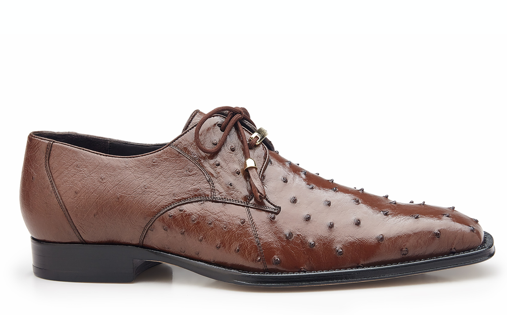 Isola brown Belvedere Ostrich Shoes