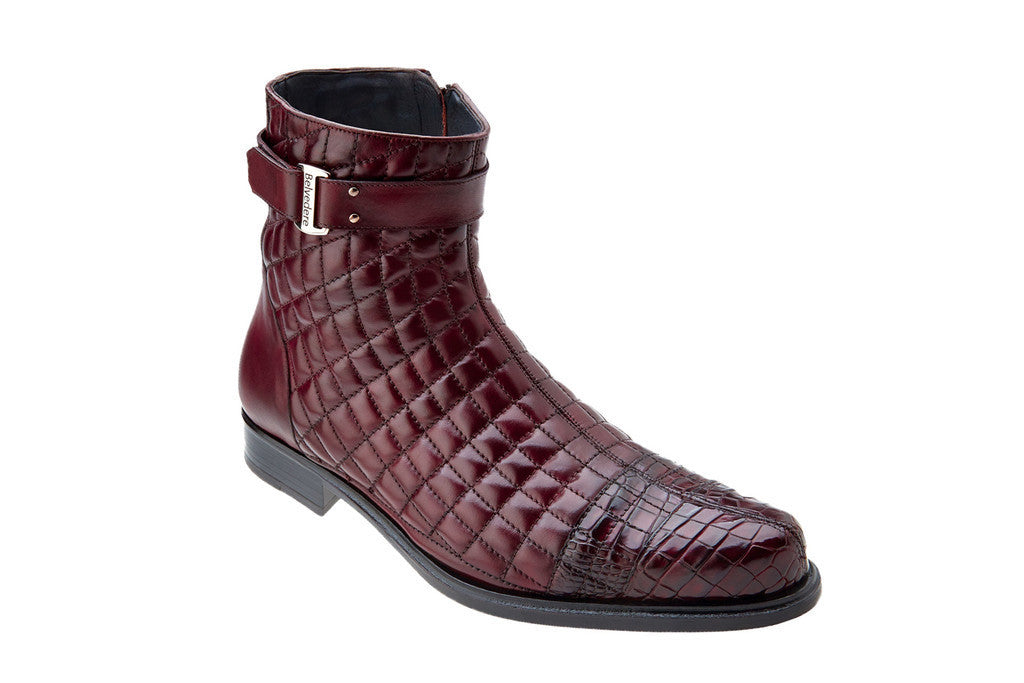 Libero Wine Alligator Belvedere Boots