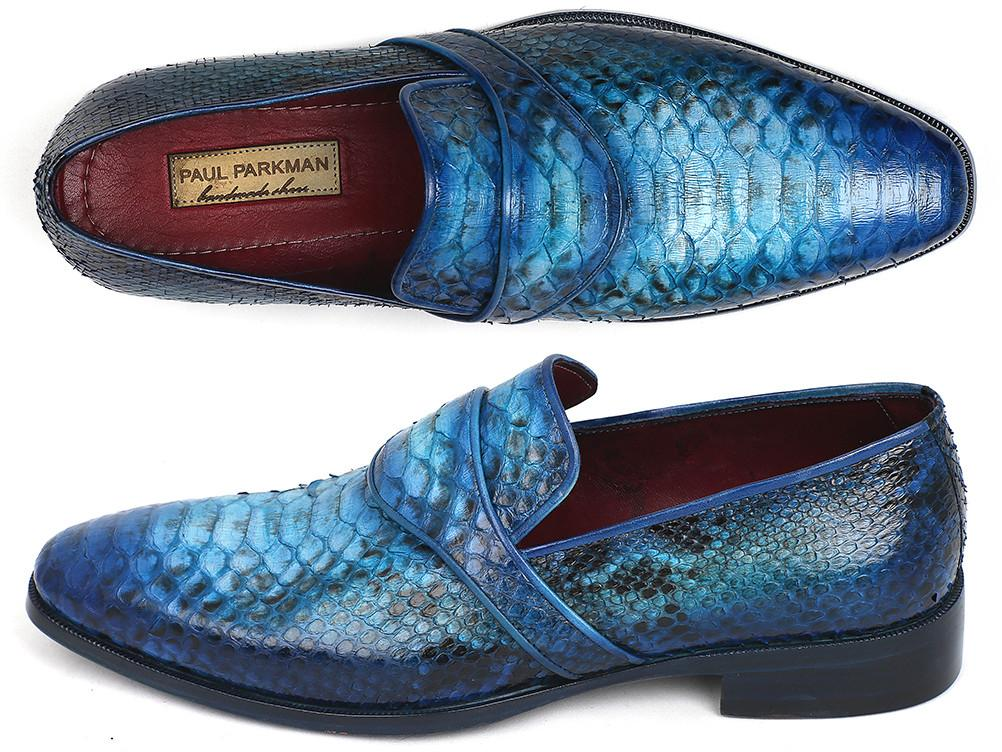 Genuine Python Paul Parkman Loafers Turquoise