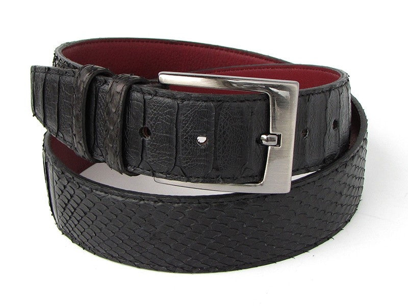 Black Python Paul Parkman Snakeskin Belt