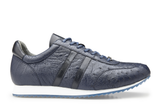 Parker Navy Ostrich Belvedere Sneakers Shoes