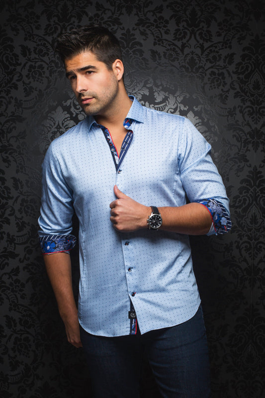 Rollins Light Blue Au Noir Shirt
