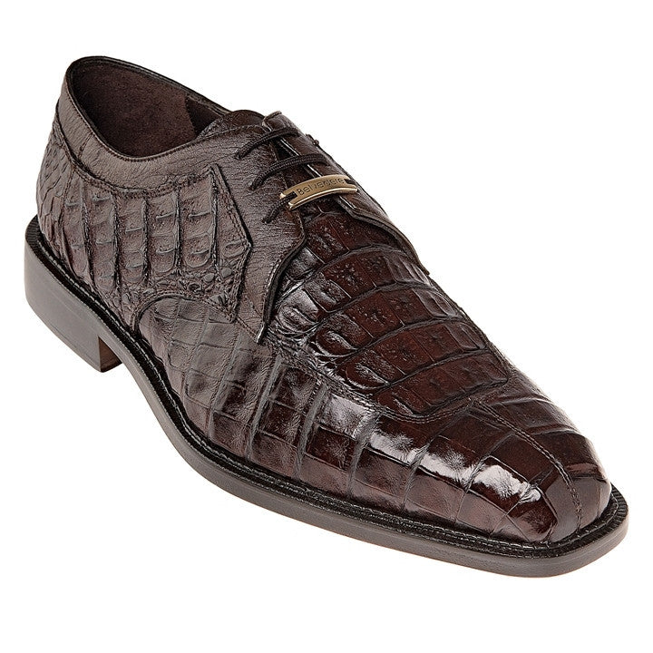 Susa Brown Crocodile & Ostrich Belvedere Shoes