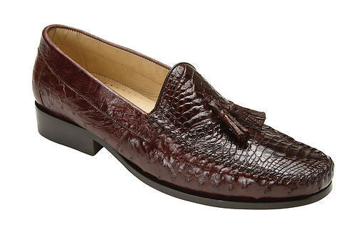 Bari Caiman & Ostrich Belvedere Casual Loafers