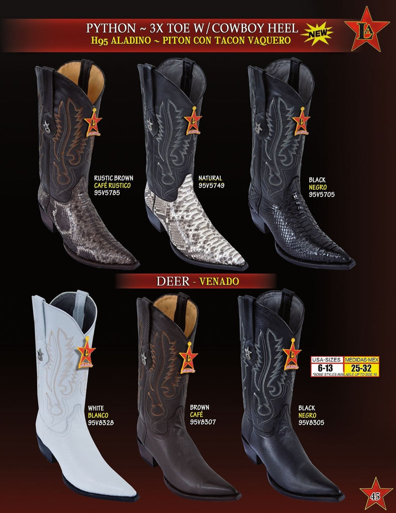 3X Toe Genuine Deer Los Altos Boots