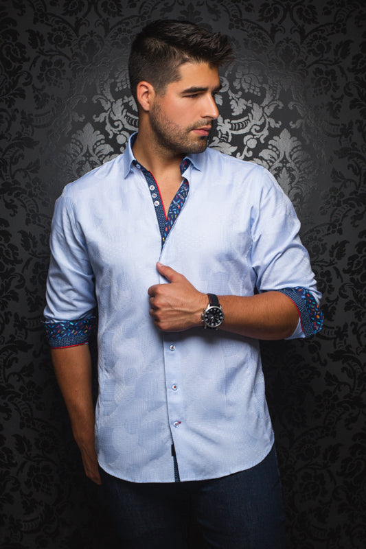 Tomassi Light Blue Au Noir Shirt