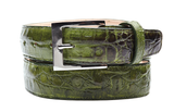 Belvedere Emerald Crocodile Leather Belt