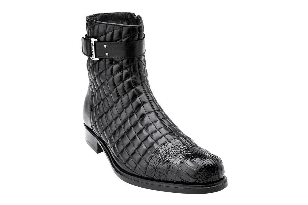 Libero Black Alligator Belvedere Boots