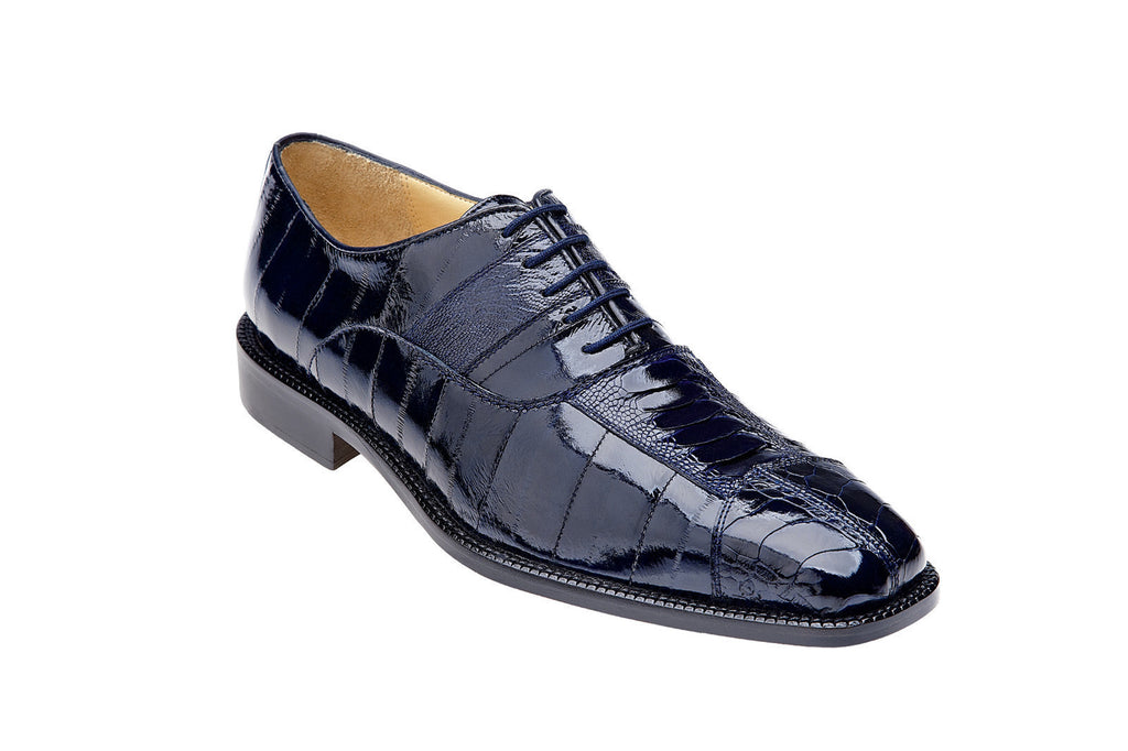 Mare Genuine Ostrich & Eel Belvedere Oxford Shoes