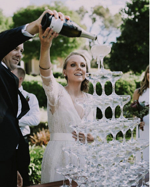 Champagne Tower at Wedding - Gem Events