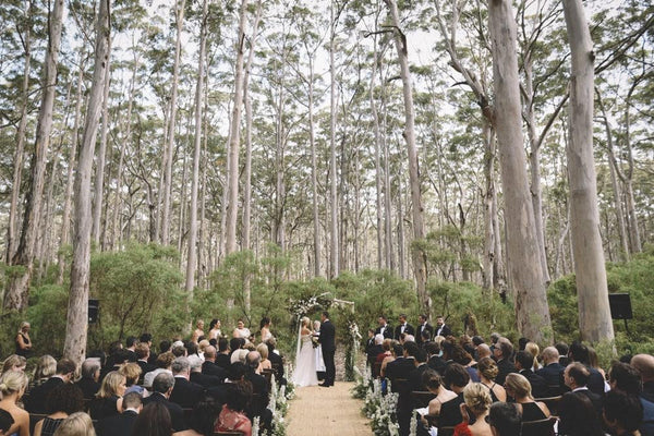 Australian Bush Wedding - Black Tie in the Forest - Gem Events