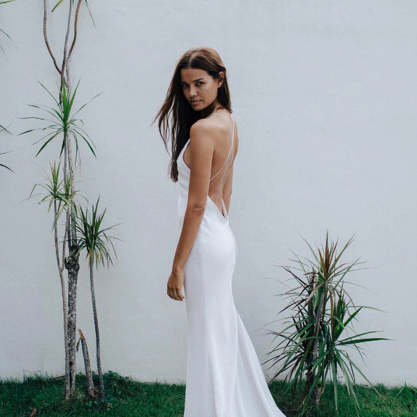 Ilha Silk Minimalist Wedding Gown - Lola Varma