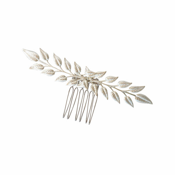 Delicate Bridal Hair Comb in Silver (short length) - Elle + Adhira