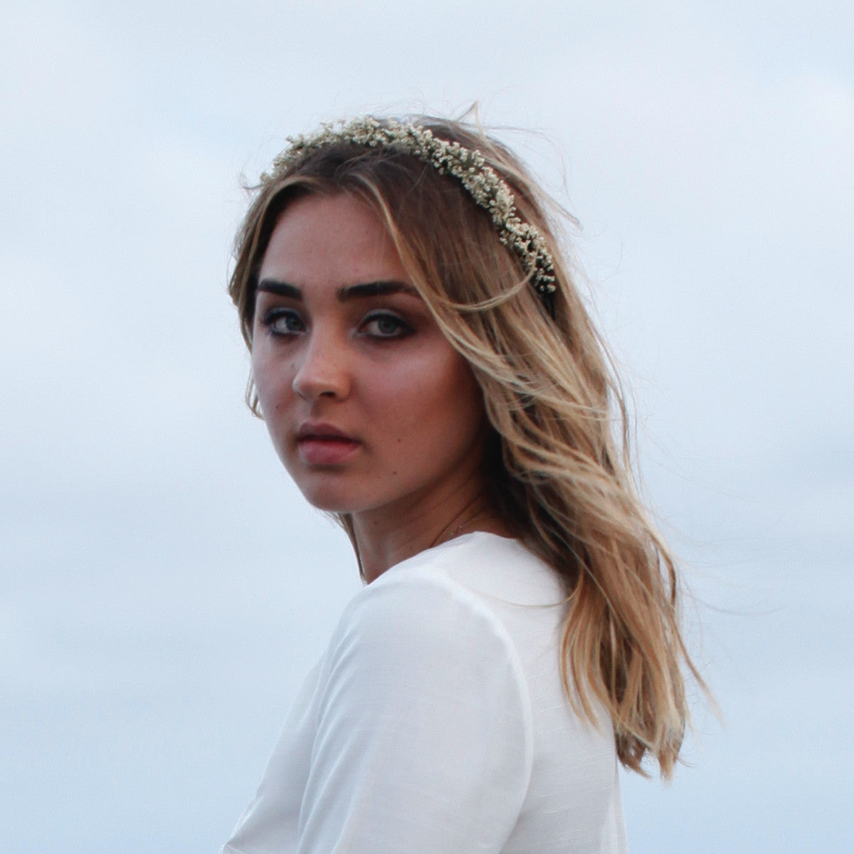 Isobel Wax Flower Crown - Elle + Adhira