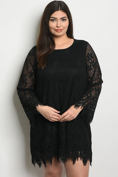 Curvy Black Lace Dress