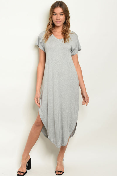 Grey Jersey Tunic Dress