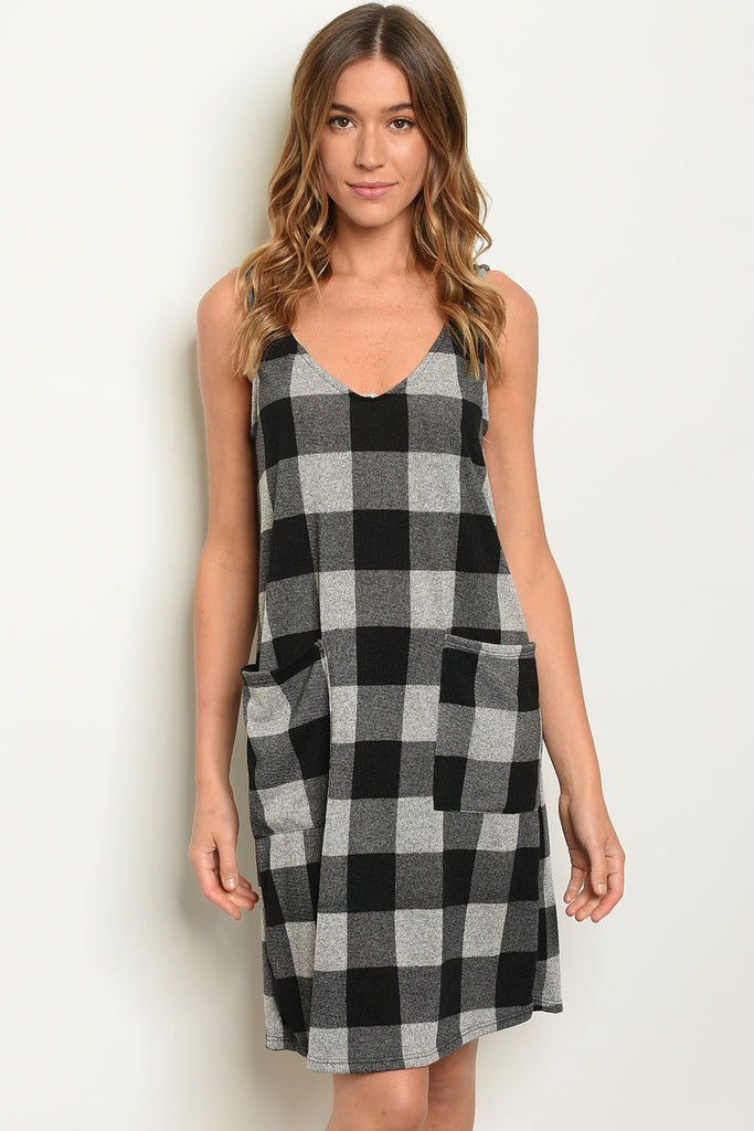 Buffalo Plaid Sleeveless Dress