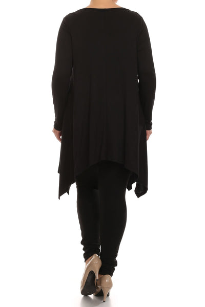 Plus Size Black Tunic