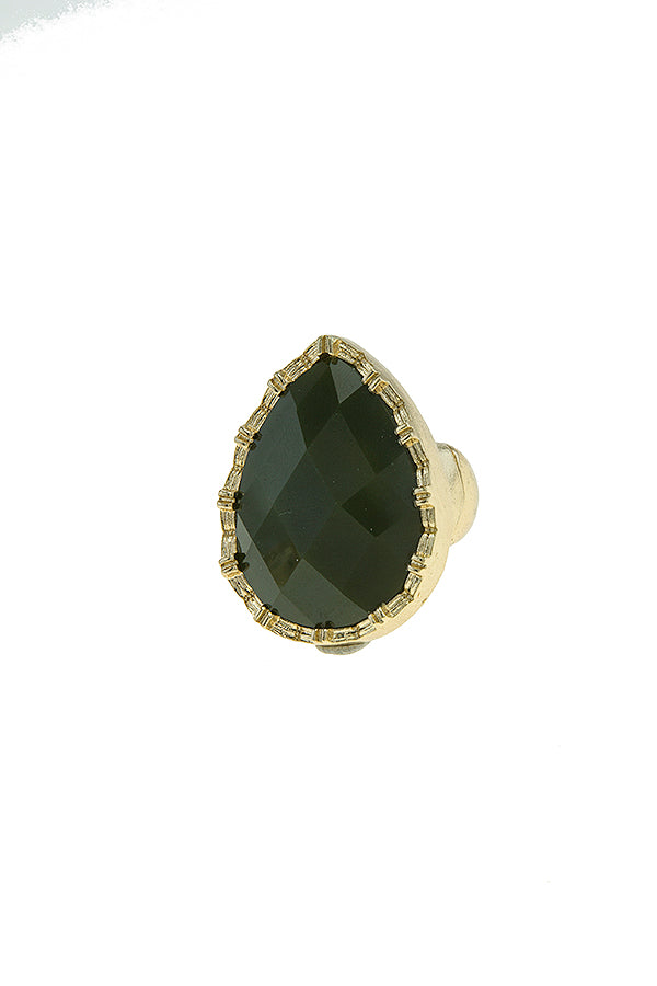 Teardrop Faux Gem Stretch Ring (more colors)