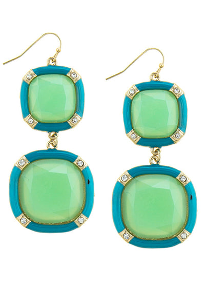 Acrylic Two Tone Earrings (more colors)