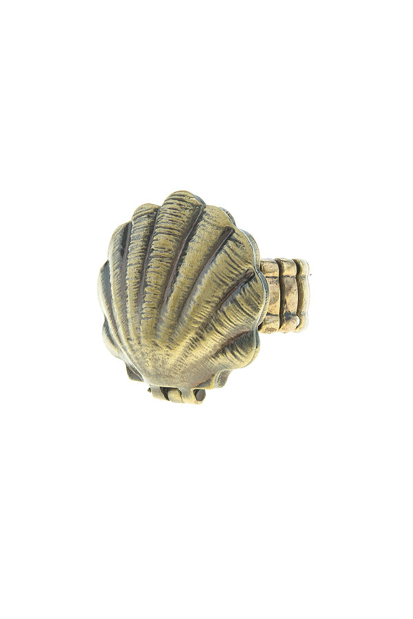 Shell Pearl Stretch Ring