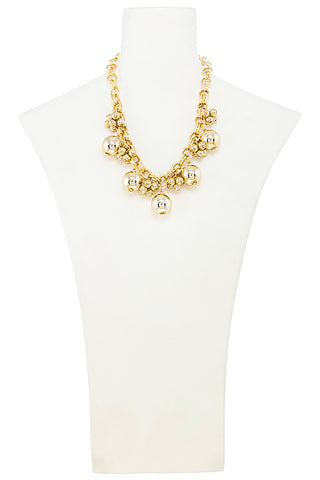 CLUSTER BEAD LINED NECKLACE SET