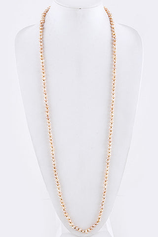 Knotted Fresh Water Pearl Long Necklace