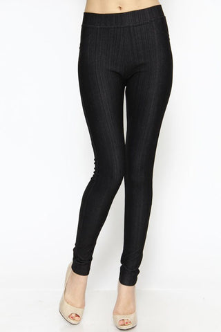 Curvy Black Jeggings