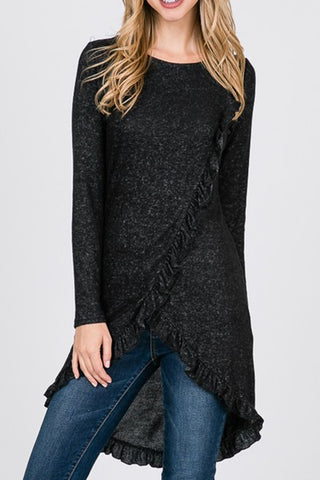 Black Ruffled Tunic