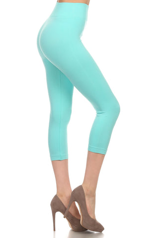 Solid Color Capri Leggings