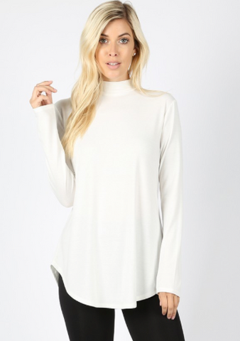 Mock Turtleneck Top
