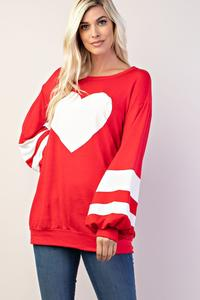 Valentine Bubble Sleeve Sweater
