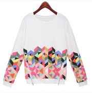 Trendy Print Scoop Pullover Light Slim Sweatshirt - Meet Yours Fashion - 4