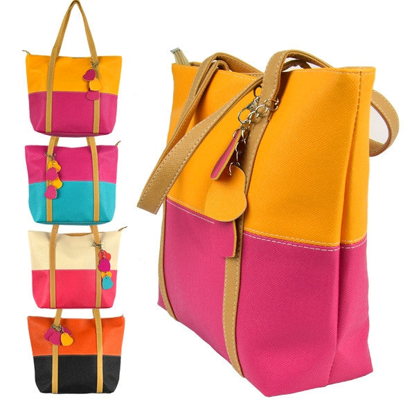 Fashion Cute Women Girl Candy Color Leisure Handbag Purse Shoulder Tote Bag