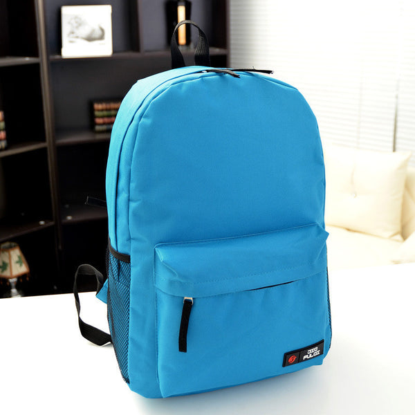Pure Color Korean Style Flexo Backpack - Meet Yours Fashion - 14