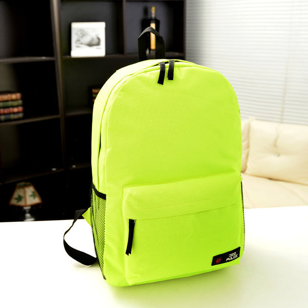 Pure Color Korean Style Flexo Backpack - Meet Yours Fashion - 16