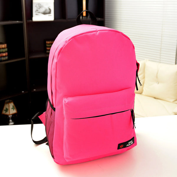 Pure Color Korean Style Flexo Backpack - Meet Yours Fashion - 13