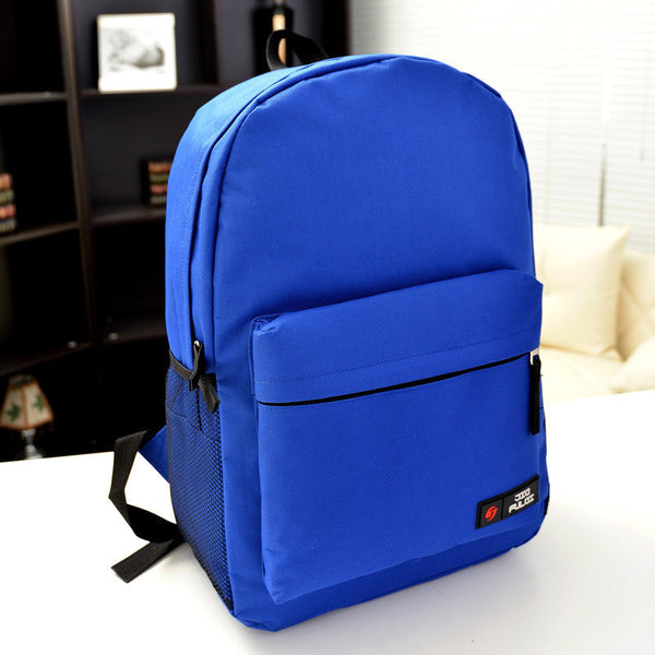 Pure Color Korean Style Flexo Backpack - Meet Yours Fashion - 11