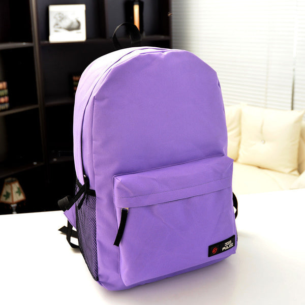 Pure Color Korean Style Flexo Backpack - Meet Yours Fashion - 12